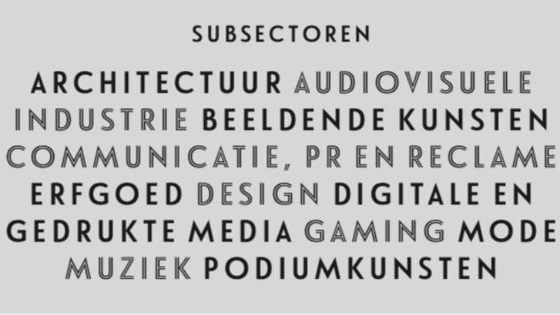 Creatieve sector goed voor 6,30% van de totale werkgelegenheid in Vlaanderen
