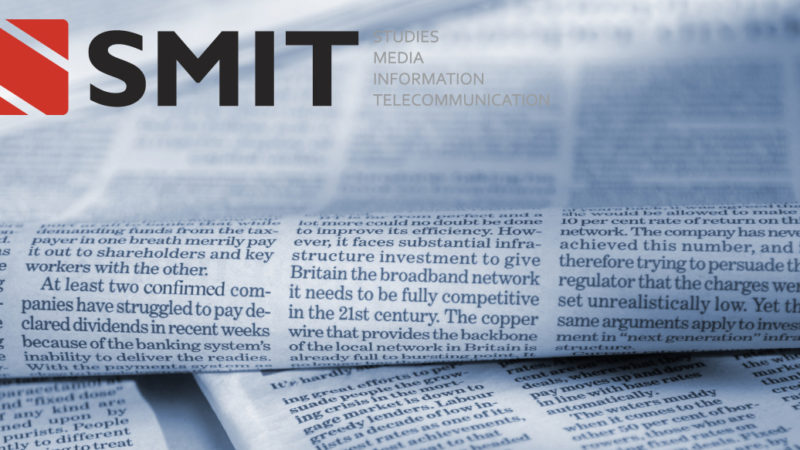 SMIT nieuwsbrief voor november 2020 – Shaping the media and making the headlines